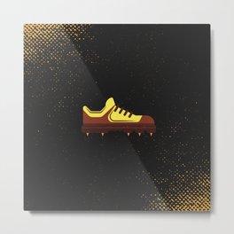 Minimal Retro Cricket Shoe Metal Print