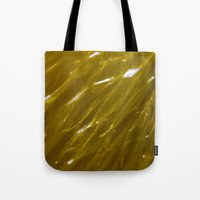 orange pattern Tote Bags featuring Orange pattern by Svetlana Korneliuk
