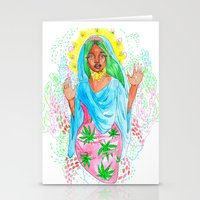 nicki Stationery Cards featuring Virgin Mary (Jane) by AnnaToman