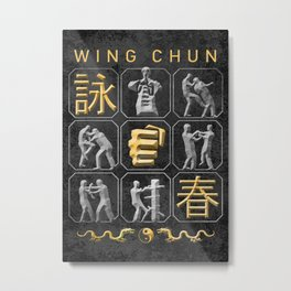 Wing Chun, Kung Fu Metal Print