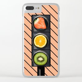 Fruity Traffic Lights Clear iPhone Case