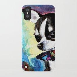 Little Dog Space Portrait 1 iPhone Case