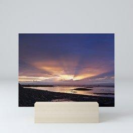 Beams of Light across the Sky Mini Art Print