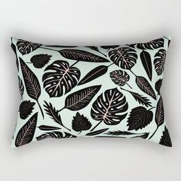 Blacked Leaves Rectangular Pillow