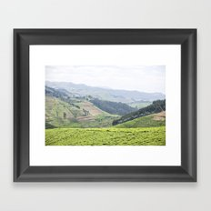 land of a thousand hills::rwanda Framed Art Print