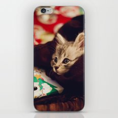 christmas kitten iPhone & iPod Skin