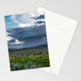Desert Rain - Summer Thunderstorms Near Taos New Mexico Stationery Cards