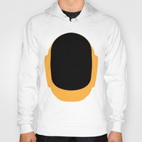 deadmau5 Hoodies featuring Daft Punk Guy Manuel Helmet by Alli Vanes