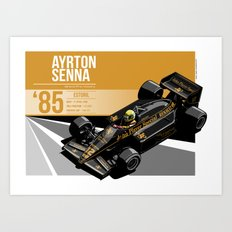 Ayrton Senna - 1985 Estoril Art Print