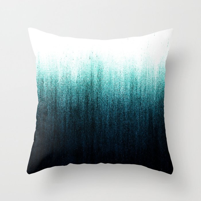 Teal Ombr 233 Throw Pillow By Caitlinworkman Society6