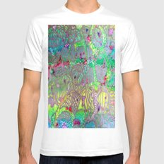 Do you see what I see? White MEDIUM Mens Fitted Tee