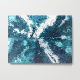 Ocean View - Abstract Ocean Metal Print