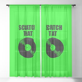 scratch that music logo Sheer Curtain