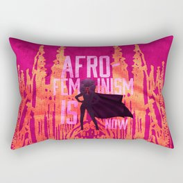 AFRO-FEMINISM IS NOW Rectangular Pillow