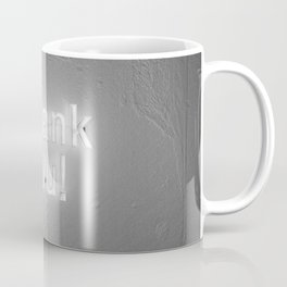 Thank You (Black and White) Coffee Mug
