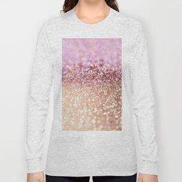 Mermaid Rose Gold Blush Glitter Long Sleeve T-shirt