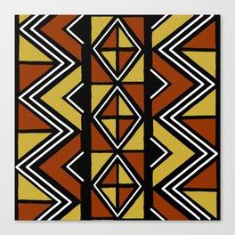 Big mud cloth tiles Canvas Print