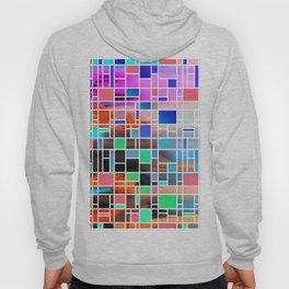 Abstract Multicolour Modern Art Grid Pattern Hoody