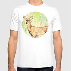 As A Deer MEDIUM White Mens Fitted Tee