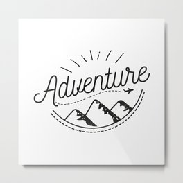 Adventure Logo Metal Print