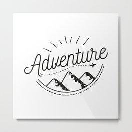 Adventure Logo Metal Print