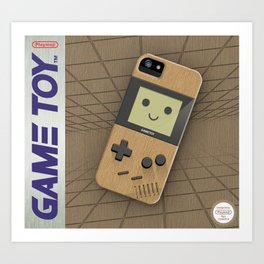 GAMETOY - Wooden         Game Boy, toy, wood, Gameboy Art Print