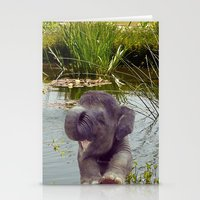 baby elephant Stationery Cards featuring Baby Elephant by Erika Kaisersot