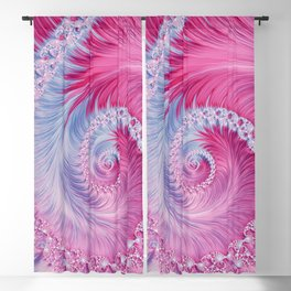Crystal Spiral Abstract Blackout Curtain