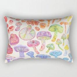 Wild Mushroom Rainbow - Neutral Rectangular Pillow