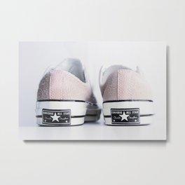 My pink suede shoes Metal Print