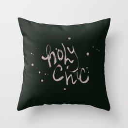 Holy Chic calligraphy Throw Pillow