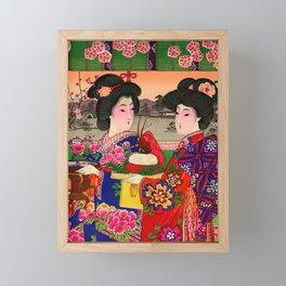Two Geishas Framed Mini Art Print