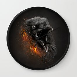 XTINCT x Raven Wall Clock