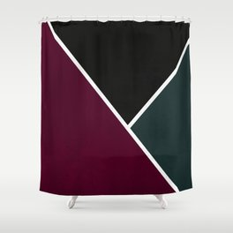 Noir Series - Red & Forest Shower Curtain