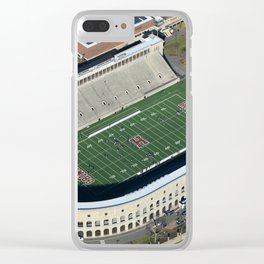 Harvard Stadium From Above Clear iPhone Case