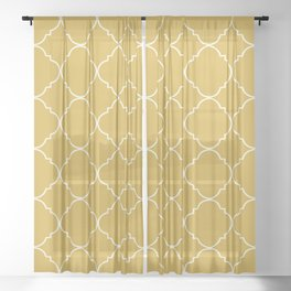 Yellow Moroccan Sheer Curtain