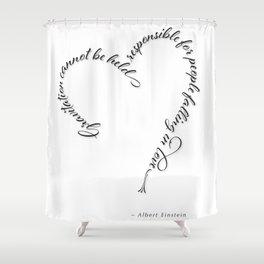 Einstein Love Quote Shower Curtain