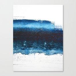 Lake Michigan: a pretty, minimal abstract piece in icy blues by Alyssa Hamilton Art Canvas Print