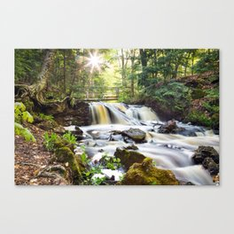 Upper Chapel Falls at Pictured Rocks National Lakeshore - Michigan Canvas Print