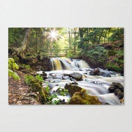 Upper Chapel Falls at Pictured Rocks National Lakeshore - Michigan Canvas Print