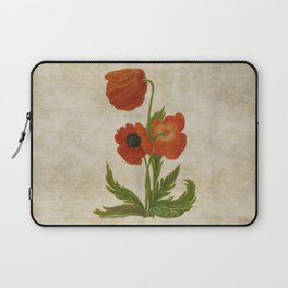 Vintage painting - Bunch of poppies Poppy Flower floral Laptop Sleeve