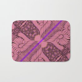 Diagonal Abstract Psychedelic Doodle 2 Bath Mat