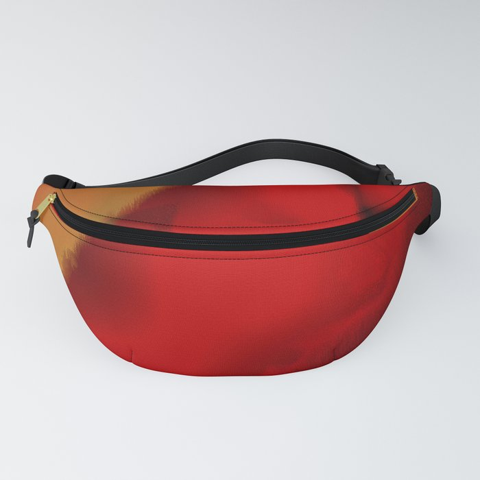 Emerging through Red Fanny Pack