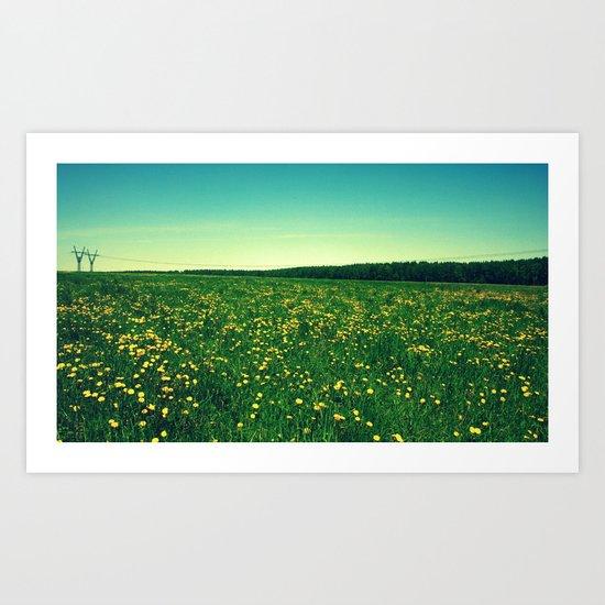 field landscape Art Print