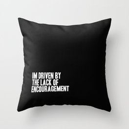 Driven Throw Pillow