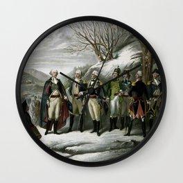 Washington and His Generals Wall Clock