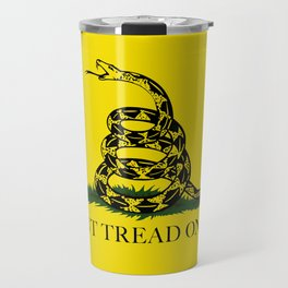 Don't Tread On Me Gadsden Flag Travel Mug