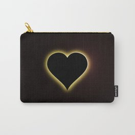 Valentines Night Sky Total Eclipse Of The Heart Carry-All Pouch