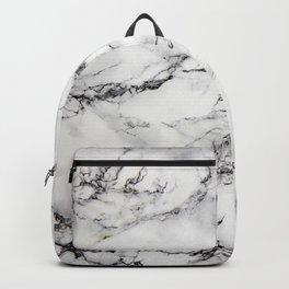 Greyish White Marble Backpack