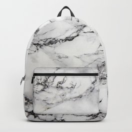 Greyish White Marble Backpack